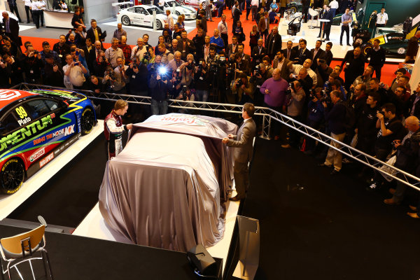 Autosport International Show NEC, Birmingham.  Thursday 10th January 2013. The new Ford Fiesta Rally Car is unveiled. World Copyright:Malcolm Griffiths/LAT Photographic ref: Digital Image F80P7767