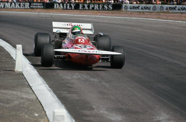 Silverstone, England. 15-17th July 1971.  Henri Pescarolo, March 711 Ford.  Ref: 71GB28. World Copyright: LAT Photographic