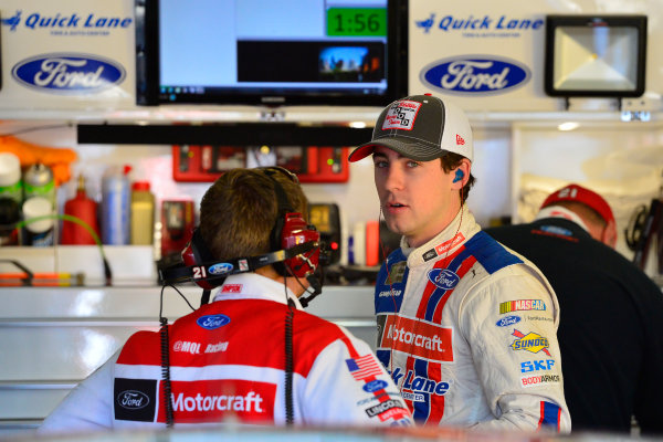 2017 Monster Energy NASCAR Cup Series O'Reilly Auto Parts 500 Texas Motor Speedway, Fort Worth, TX USA Friday 7 April 2017 Ryan Blaney World Copyright: Logan Whitton/LAT Images ref: Digital Image 17TEX1LW0096
