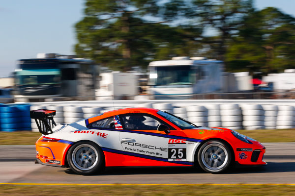 2017 Porsche GT3 Cup USA Sebring International Raceway, Sebring, FL USA Wednesday 15 March 2017 25, Victor Gomez IV, GT3P, USA, 2017 Porsche 991 World Copyright: Jake Galstad/LAT Images ref: Digital Image lat-galstad-SIR-0317-14872