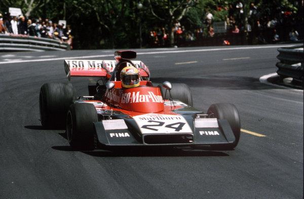 Montjuich Park, Barcelona, Spain.27-29 April 1973.Nanni Galli (Williams FW03 Ford).Ref-35mm 73 ESP 41.World Copyright - LAT Photographic