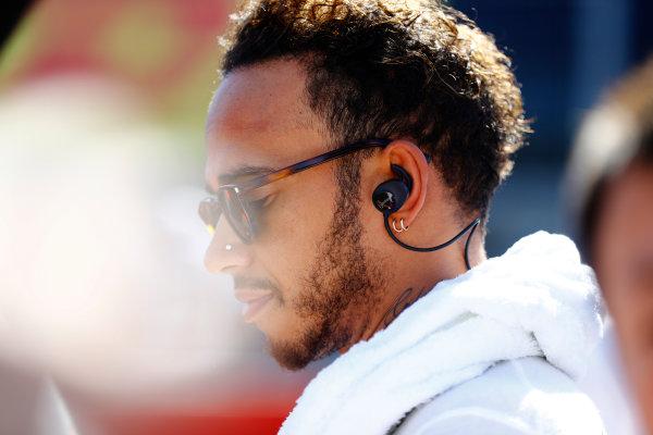 Suzuka Circuit, Japan. Sunday 08 October 2017. Lewis Hamilton, Mercedes AMG, on the grid. World Copyright: Steven Tee/LAT Images  ref: Digital Image _O3I0076