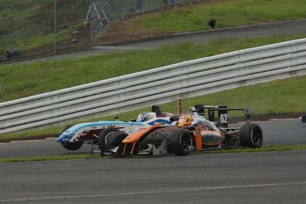 2014 All-Japan F3 Championship. Fuji, Japan. 11th - 13th July 2014. Rd 4. Race 2 - Start of the race, action. World Copyright: Yasushi Ishihara / LAT Photographic. Ref: 2014JF3_Rd8&9_017.JPG