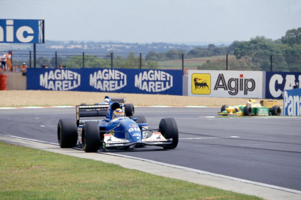 1993 South African Grand Prix. Kyalami, South Africa. 12th - 14th  March 1993. Mark Blundell (Ligier JS39 Renault) 3rd position, action. World Copyright: LAT Photographic. ref: 35mm Colour Transparency.