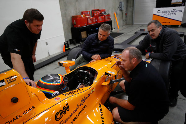 Verizon IndyCar Series Fernando Alonso Test for Indianapolis 500 Indianapolis Motor Speedway, Indianapolis, IN USA Tuesday 2 May 2017 Fernando Alonso in preparation for his Indianapolis 500 debut. World Copyright: Michael L. Levitt LAT Images