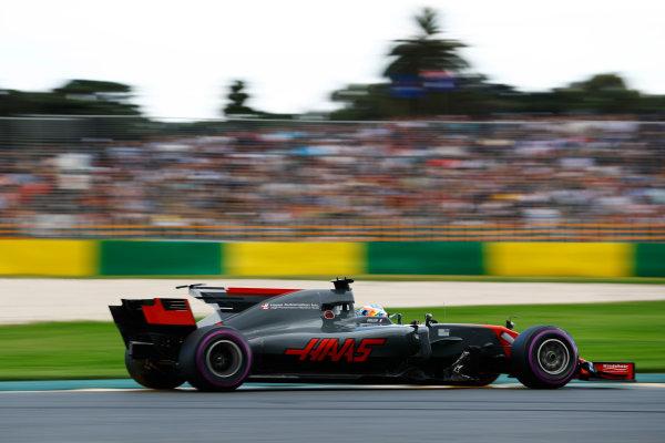 Albert Park, Melbourne, Australia. Saturday 25 March 2017. Romain Grosjean, Haas VF-17. World Copyright: Steven Tee/LAT Images ref: Digital Image _O3I2223