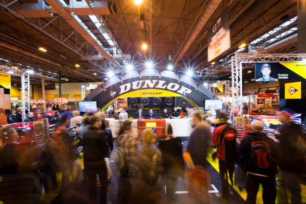 Autosport International Exhibition. National Exhibition Centre, Birmingham, UK. Sunday 11 January 2015. Fans at the Dunlop stage. World Copyright: Malcolm Griffiths/LAT Photographic. ref: Digital Image A50A4203