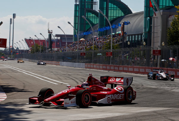 14 July, 2013,  Toronto, Ontario, CAN Scott Dixon leads Helio Castroneves ©2013, Phillip Abbott LAT Photo USA