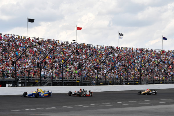 29 May, 2016, Indianapolis, Indiana, USA Alexander Rossi, Alex Tagliani, James Hinchcliffe ?2016, Scott R LePage  LAT Photo USA