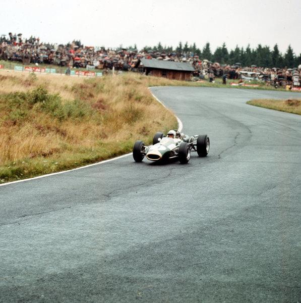 Nurburgring, Germany.5-7 August 1966.Jack Brabham (Brabham BT19 Repco) 1st position.Ref-3/2330.World Copyright LAT Photographic