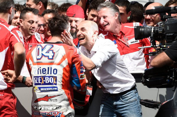 2017 MotoGP Championship - Round 6 Mugello, Italy Sunday 4 June 2017 Andrea Dovizioso, Ducati Team, Claudio Domenicali World Copyright: Gold & Goose Photography/LAT Images ref: Digital Image 674984