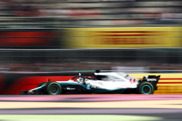 Lewis Hamilton, Mercedes AMG F1 W09 EQ Power+, waves to the crowd