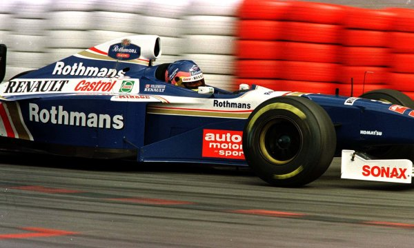 1997 Belgian Grand Prix.Spa-Francorchamps, Belgium.22-24 August 1997.Jacques Villeneuve (Williams FW19 Renault) 5th position. World Copyright - Tee/LAT Photographic