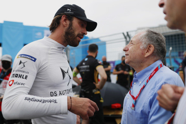 Jean-Eric Vergne (FRA), DS Techeetah, with Jean Todt, FIA President