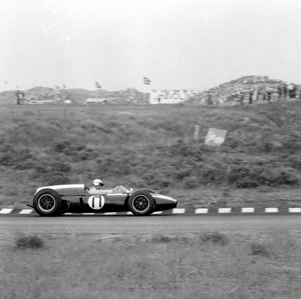 1960 Dutch Grand Prix.Zandvoort, Holland.4-6 June 1960.Jack Brabham (Cooper T53-Climax) 1st position. Ref-6538.World Copyright - LAT Photographic