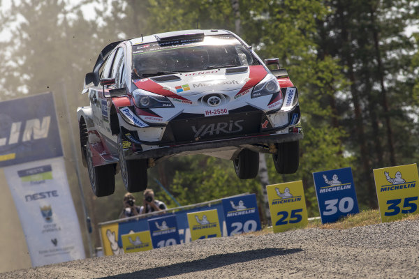Jari Matti Latvala pushes to try and take second place on his home rally