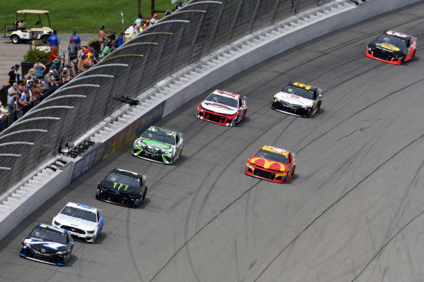 #19: Martin Truex Jr., Joe Gibbs Racing, Toyota Camry Auto-Owners Insurance/Martin Truex Jr. 500th Start and #6: Ryan Newman, Roush Fenway Racing, Ford Mustang Wyndham Rewards