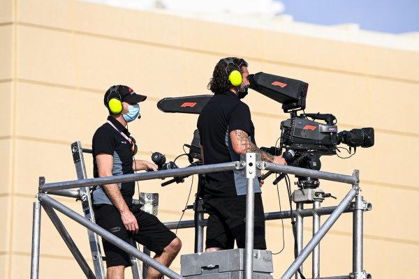 Camera man filming the F2 Podium