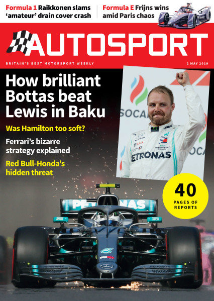 Cover of Autosport magazine, 2019