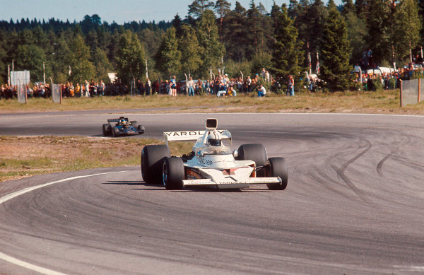 1973 Swedish Grand Prix.Anderstorp, Sweden.15-17 June 1973.Denny Hulme (McLaren M23 Ford) 1st position.Ref-73 SWE 05.World Copyright - LAT Photographic