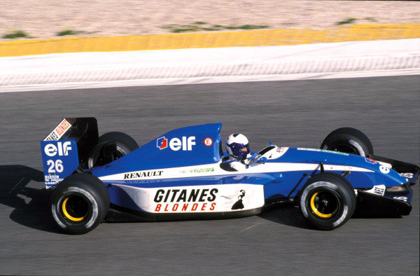 Alain Prost, Ligier JS37 Renault at Estoril. Prost also tested at Paul Ricard, but could not reach agreement with the team to contest the 1992 season