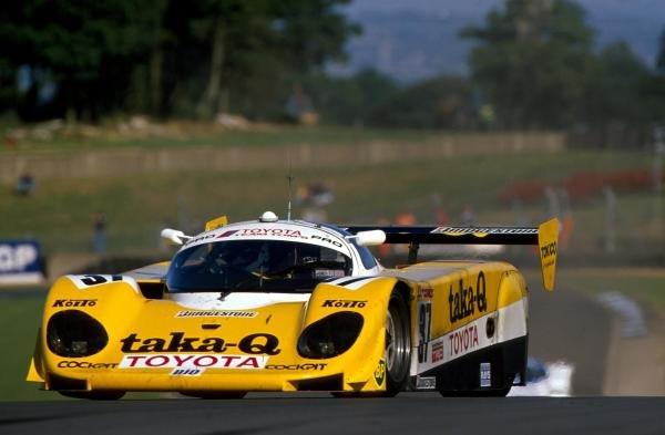 Johnny Dumfries (GBR) TOM'S Toyota 89 CV finished in 10th place.World Sportscar Championship, Donington Park, England, 3 September 1989.BEST IMAGE