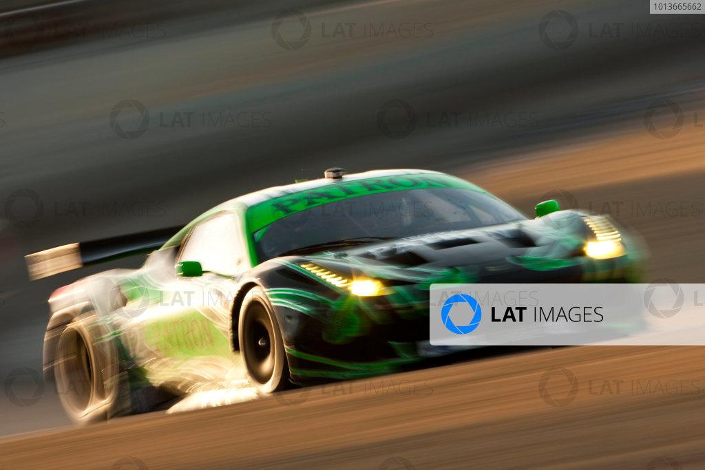 American Le Mans Series. Laguna Seca, Monterey, California. 15th - 17th September 2011. Ed Brown / Guy Cosmo, Extreme Speed Motorsports, Ferrari 458 Italia.  Action. Photo: Drew Gibson/LAT Photographic. ref: Digital Image _Y2Z6973