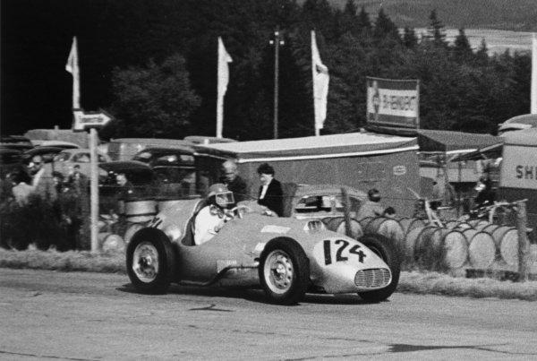1952 German Grand Prix.Nurburgring, Germany. 3 August 1952.Helmut Niedermayr (AFM 6-BMW). Ref-46795/22.World Copyright - LAT Photographic