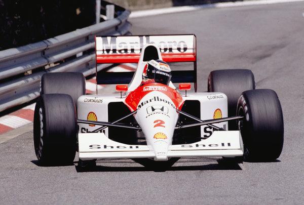 1991 Monaco Grand Prix.Monte Carlo, Monaco. 9-12 May 1991.Gerhard Berger (McLaren MP4/6 Honda).Ref-91 MON 49.World Copyright - LAT Photographic