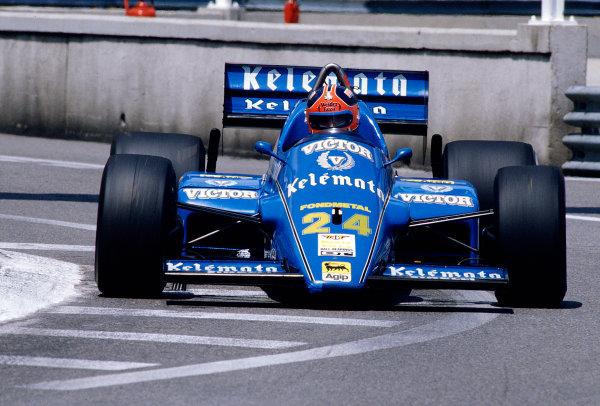 1985 Monaco Grand Prix.Monte Carlo, Monaco. 16-19 May 1985.Piercarlo Ghinzani (Osella FA1G Alfa Romeo).Ref-85 MON 48.World Copyright - LAT Photographic