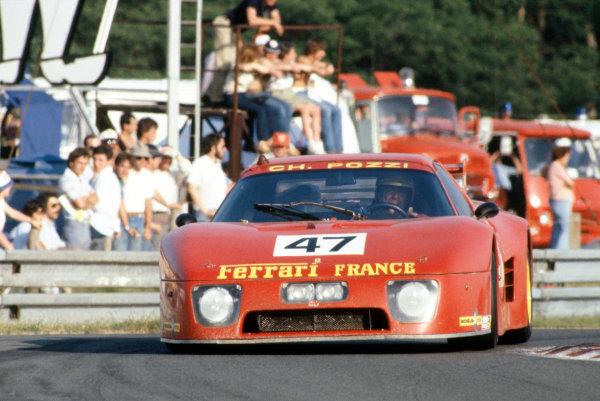 1981 Le Mans 24 HoursLe Mans, France. 13th - 14th June.Claude Ballot-Lena/Jean-Claude Andruet (Ferrari 512BB LM), 5th position and winner of IMSA GTX class.World Copyright: Murenbeeld/LAT Photographic.