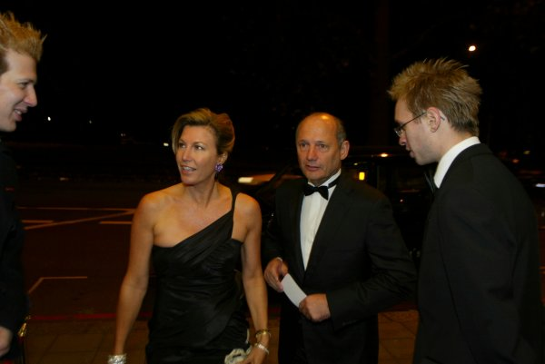 2003 AUTOSPORT AWARDS, The Grosvenor, London. 7th December 2003.Ron Dennis and his wife arrive at the Awards.Photo: Peter Spinney/LAT PhotographicRef: Digital Image only