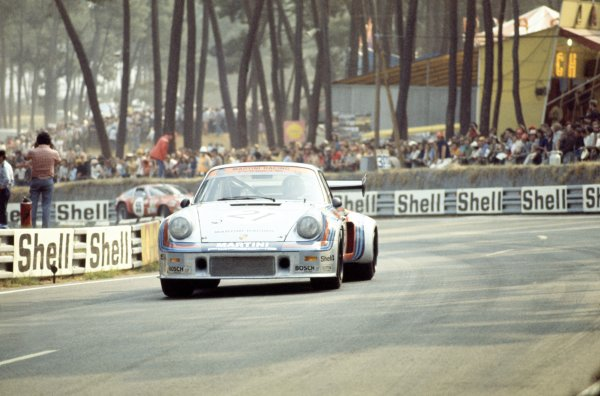 1974 Le Mans 24 hours.Le Mans, France. 15-16 June 1974.Helmuth Koinigg/Manfred Schurti (Porsche Turbo RSR), retired.World Copyright: LAT PhotographicRef: 35mm transparency 74LM24