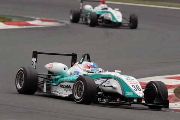 Fuji, Japan. 5th April 2009.Rd2 - Winner Takuto Iguchi ( #36 PETRONAS TOM'S F308 ) action.World Copyright: Yasushi Ishihara/LAT Photographicref: 2009JF3_R2_002