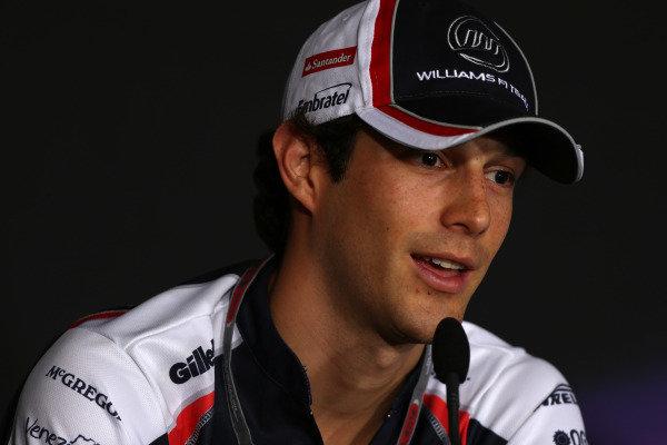 Marina Bay Circuit, Singapore.20th September 2012.Bruno Senna, Williams F1 Team, in the Thursday Press Conference. World Copyright: Andy Hone/LAT Photographicref: Digital Image HONZ0880