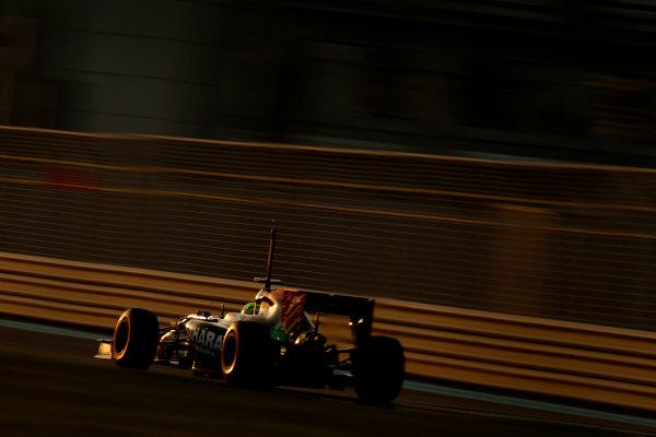 Yas Marina Circuit, Abu Dhabi, United Arab Emirates. Wednesday 26 November 2014. Spike Goddard, Force India VJM07 Mercedes. World Copyright: Glenn Dunbar/LAT Photographic. ref: Digital Image _89P8988