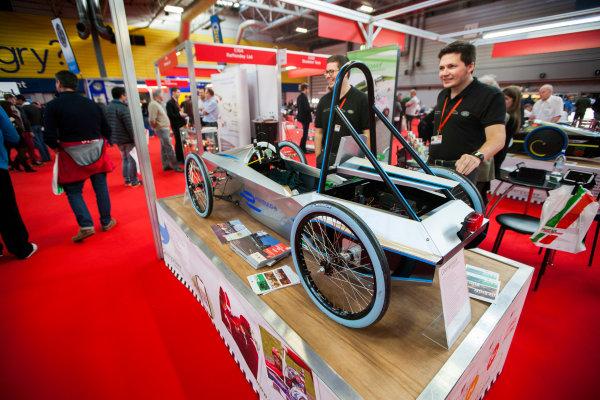 Autosport International Exhibition. National Exhibition Centre, Birmingham, UK. Friday 9 January 2015. Formula E Green Power car. World Copyright: Zak Mauger/LAT Photographic. ref: Digital Image _P7T0258
