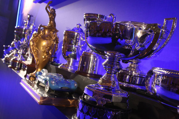 2014 BRDC Annual Awards The Grand Connaught Rooms, London, UK Monday 8 December 2014. Trophies ready to be presented. World Copyright: Ebrey/LAT Photographic. ref: Digital Image Trophies-02