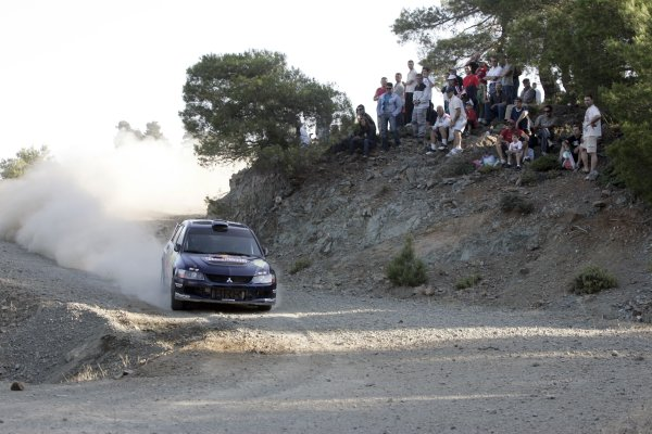2007 FIA World Rally ChampionshipRound 8Acropolis Rally of Greece31/5-- 3/6  2007Andreas Aigner, Mitsubishi, Action.Worldwide Copyright: McKlein/LAT