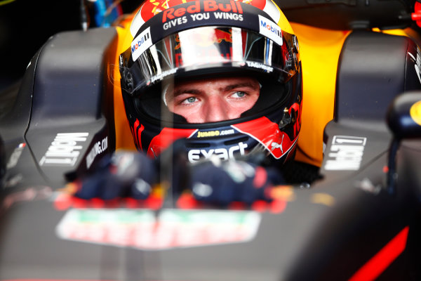 Red Bull Ring, Spielberg, Austria. Saturday 08 July 2017. Max Verstappen, Red Bull Racing, in cockpit with helmet visor open. World Copyright: Andy Hone/LAT Images ref: Digital Image _ONY0475