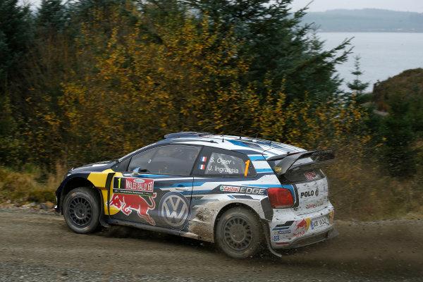 2016 FIA World Rally Championship, Round 13, Wales Rally GB 2016 October 27 - 30, 2016 Sebastien Ogier, VW, action  Worldwide Copyright: McKlein/LAT