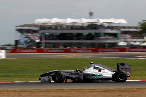 Silverstone, Northamptonshire, England9th July 2010Nico Rosberg, Mercedes GP W01. Action. World Copyright: Andrew FerraroLAT Photographicref: Digital Image _Q0C5770