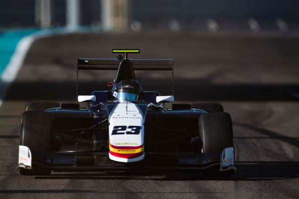 2016 GP3 Series Test 5. Yas Marina Circuit, Abu Dhabi, United Arab Emirates. Wednesday 30 November 2016. Leonardo Pulcini (ITA, Campos Racing)  Photo: Sam Bloxham/GP3 Series Media Service. ref: Digital Image _SLA1410