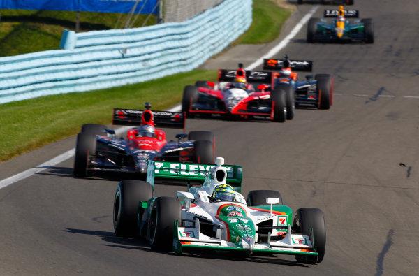 2-4 July, 2010, Watkins Glen, New York, USATony Kanaan leads Marco Andretti, Justin Wilson and Adam Carroll.©2010, Phillip Abbott, USALAT Photographic