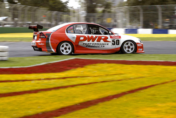 2004 Australian V8 Supercars.Non-Championship Round. Albert Park, Melbourne, 5th - 7th March.V8 Supercar driver Jason Bright in action in his new 04 Commodore. He went on to win the weekend.World Copyright: Mark Horsburgh/LAT Photographicref: Digital Image Only