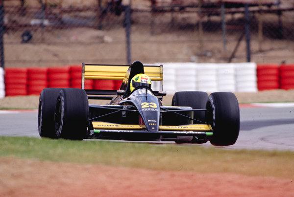 1992 South African Grand Prix.Kyalami, South Africa. 28/2-1/3 1992.Christian Fittipaldi (Minardi M191B Lamborghini).Ref-92 SA 29.World Copyright - LAT Photographic