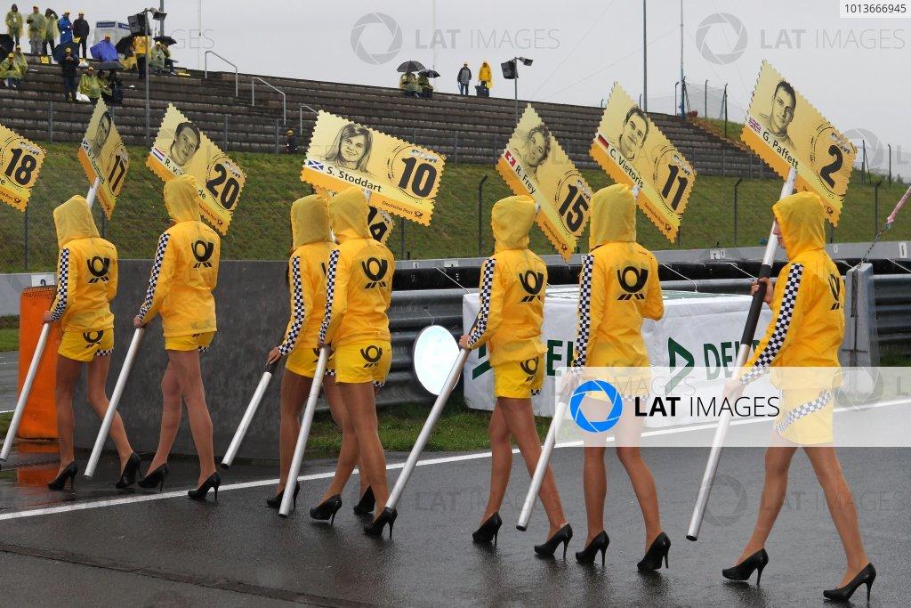 DTM grid girls.DTM, Rd8, Oschersleben, Germany, 16-18 September 2011 Ref: Digital Image dne1118se551