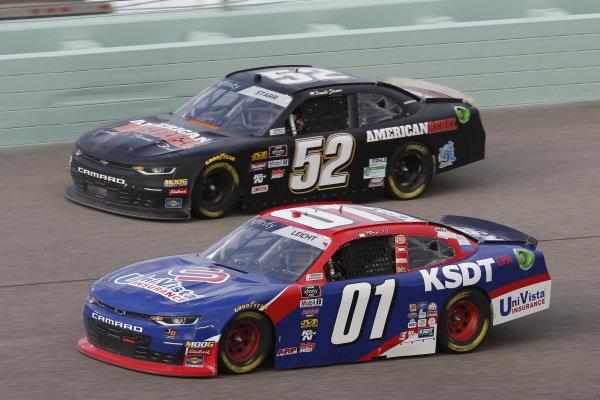 #52: David Starr, Means Motorsports, Chevrolet Camaro #01: Stephen Leicht, JD Motorsports, Chevrolet Camaro KSDT / Univista Insurance