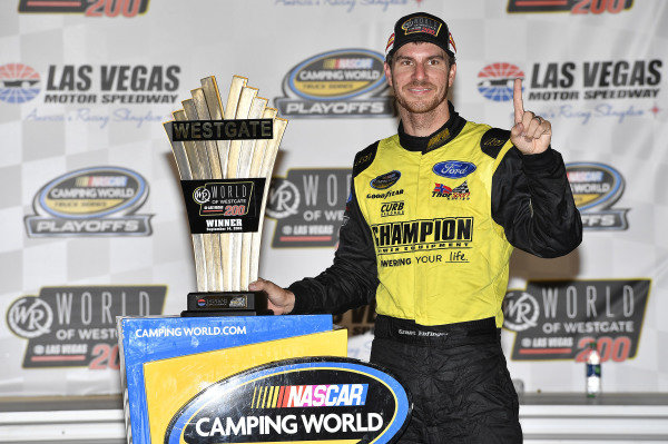 #98: Grant Enfinger, ThorSport Racing, Ford F-150 wins