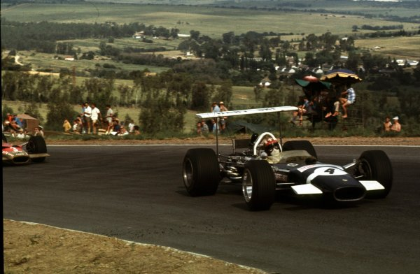 1969 South African Grand Prix.Kyalami, South Africa.27/2-1/3 1969.Jo Siffert (Lotus 49B Ford) 4th position.Ref-69 SA 05.World Copyright - LAT Photographic